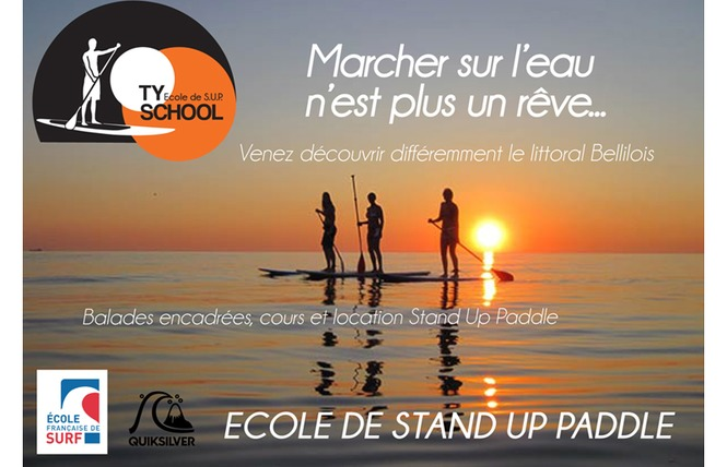 Ecole de Stand Up Paddleboard : Ty School 3 - Locmaria